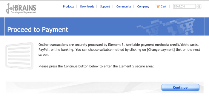 My payment will be processed by Element 5