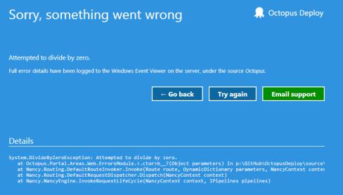 Server exception